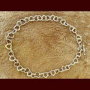David Yurman heart link necklace